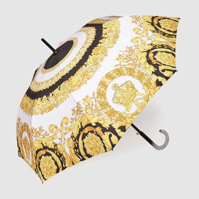VERSACE HOME Parapluie Crete De Fleurs - Blanc, Or et Noir
