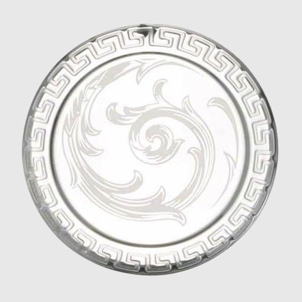 VERSACE Arabesque Clear Coaster Crystal Each 4 3/4''