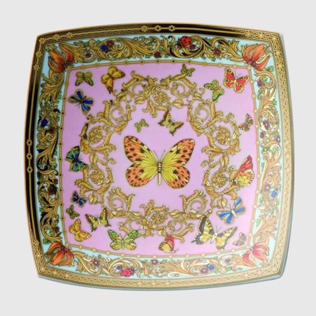 VERSACE VERSACE Butterfly Garden Candy Dish 7 In