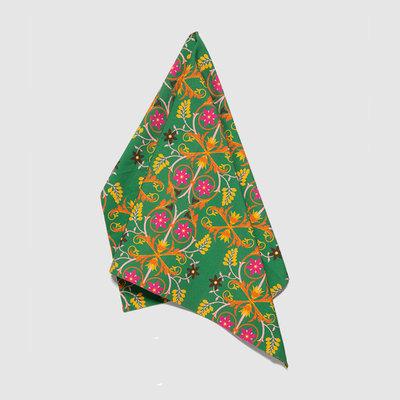 LA DOUBLE J Stella Alpina Print Linen Dish Towel