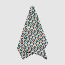 LA DOUBLE J Bold Print Linen Dish Towel