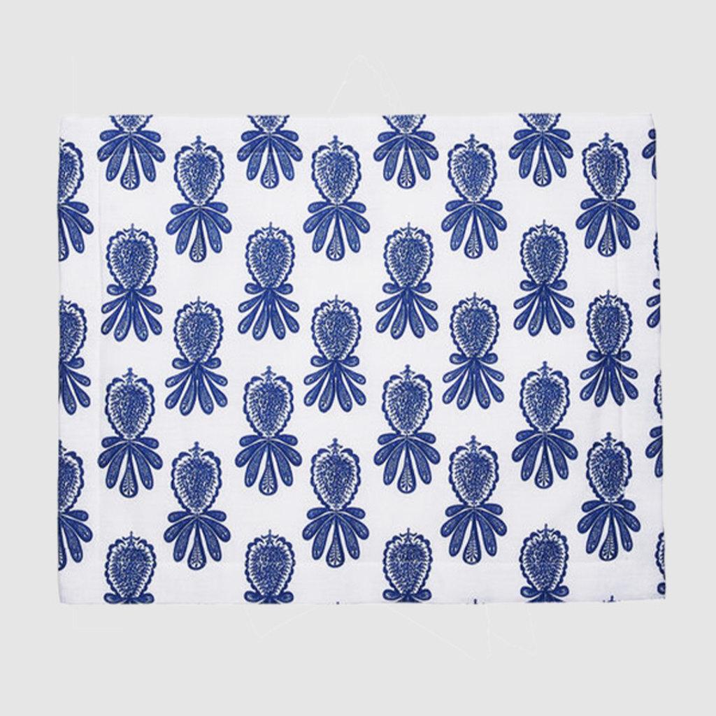 LA DOUBLE J  Napperon en lin imprimé ananas 35X45cm Set de 2