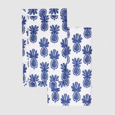 LA DOUBLE J Pineapple Print Linen Tablemat 35X45cm Set Of 2