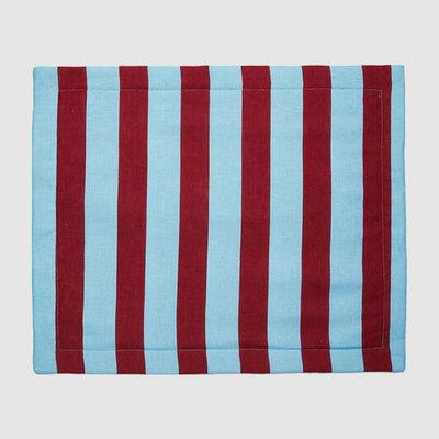LA DOUBLE J Bordeaux Print Linen Tablemats 35X45cm Set of 2