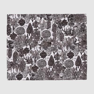 LA DOUBLE J Napperon en lin imprimé Bosco Set de 2 35X45cm