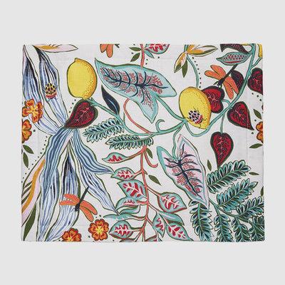 LA DOUBLE J Napperon en lin imprimé botanique 35X45cm Set de 2