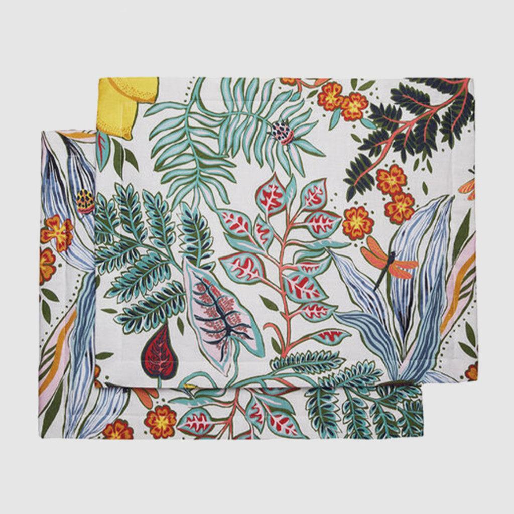 LA DOUBLE J Botanical Print Linen Tablemat 35X45cm Set of 2