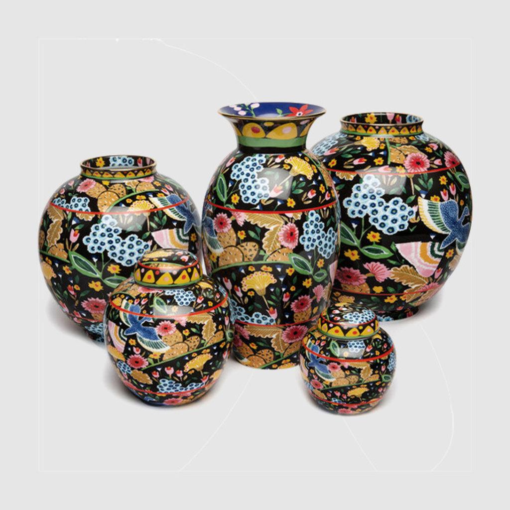 LA DOUBLE J Big Tea Jar Porcelain Colombo Black