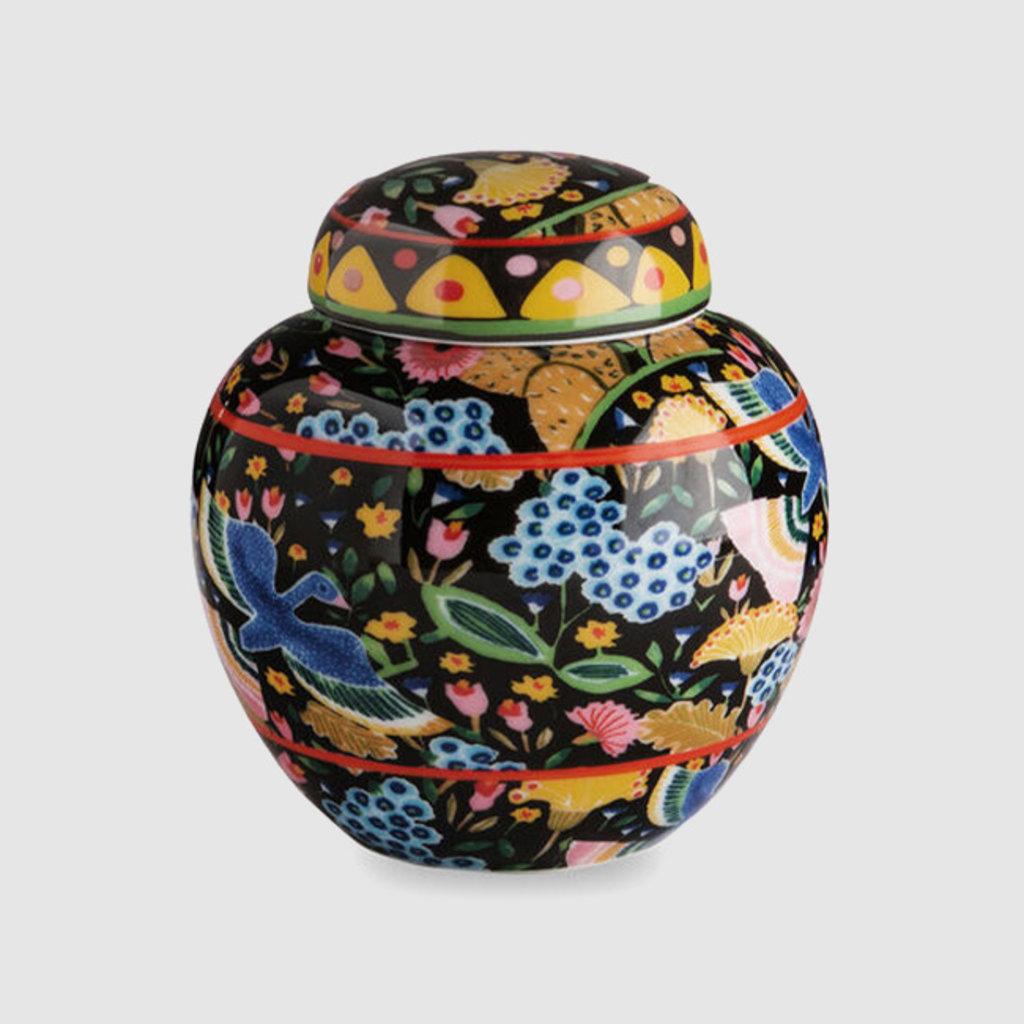 LA DOUBLE J Tea Jar Porcelain Colombo Black