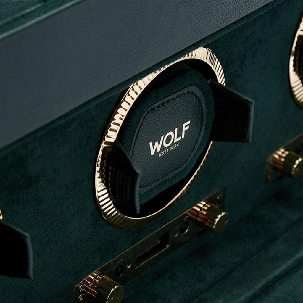 WOLF  British Racing Triple Watch Winder - Green