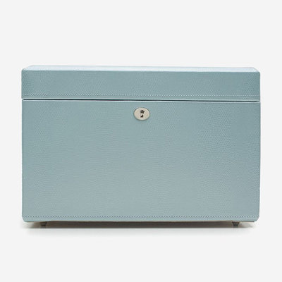 WOLF London Grande Boîte à Bijoux - Bleu