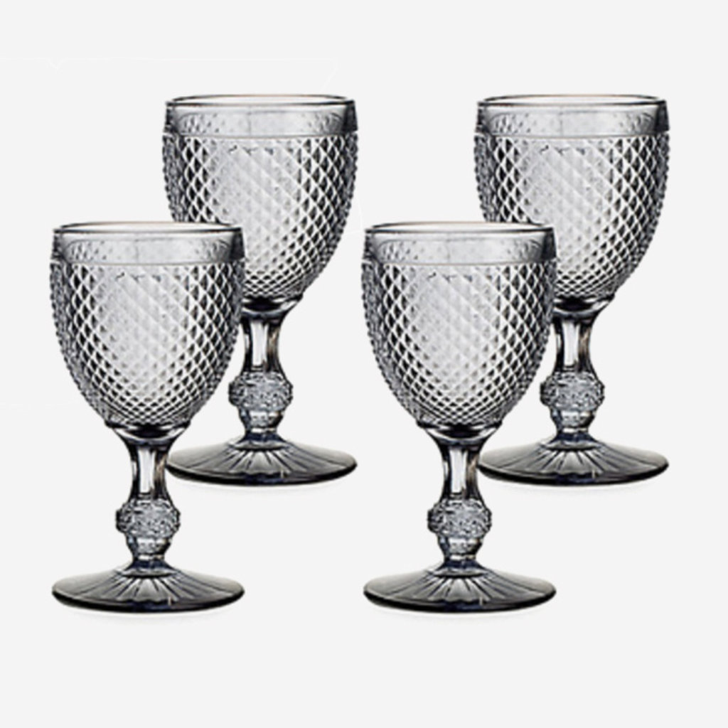 VISTA ALEGRE Bicos Water Goblet Glasses Set of 4 - Grey