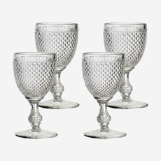 VISTA ALEGRE  Bicos Water Goblet Glasses Set of 4 - Clear