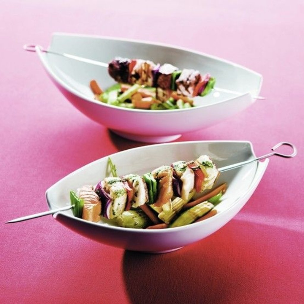 VISTA ALEGRE Large Oval Salad Bowl Buffet White