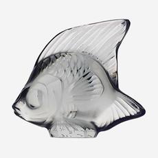 LALIQUE Figure de poisson  - Gris