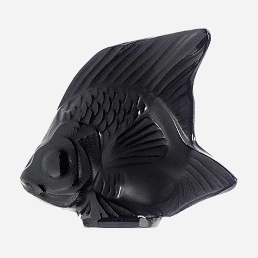 LALIQUE Figure de poisson  - Noir