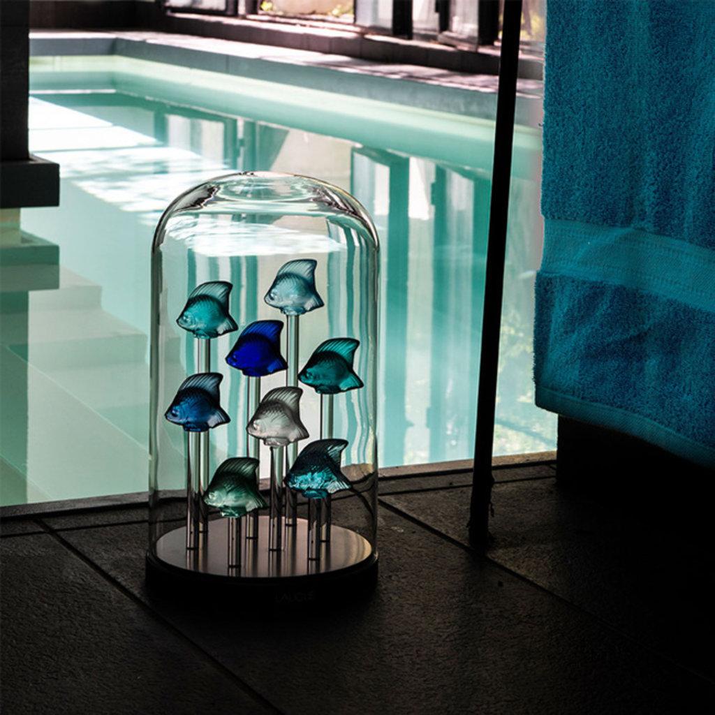 LALIQUE Figure de poisson  - Bleu
