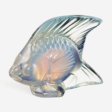 LALIQUE Figure de poisson  - Lustre opalescent