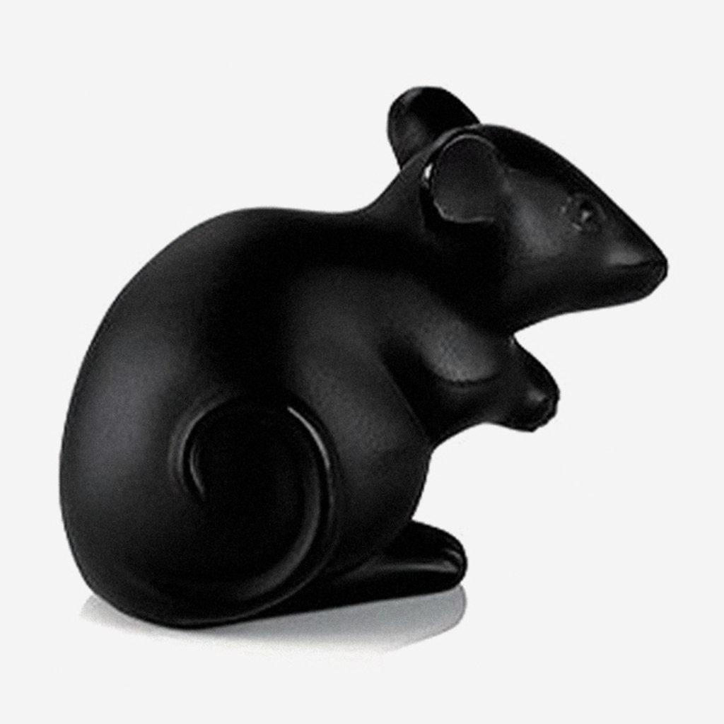 LALIQUE  Mouse Figure - Black