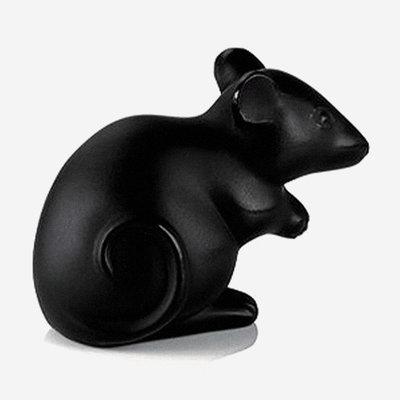 LALIQUE Figure de souris  - Noir