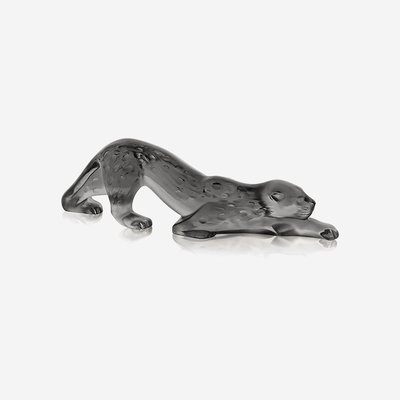 LALIQUE Zeila Panther Small Figure - Grey
