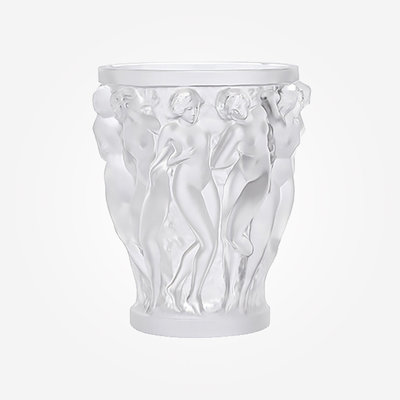 LALIQUE Bacchantes Vase Clear Small