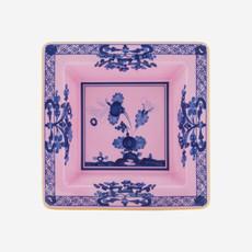 RICHARD GINORI  Oriente Italiano Azalea Petit Vide Poche Carré - Rose & Bleu