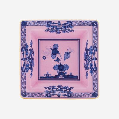RICHARD GINORI Oriente Italiano Azalea Small Square Vide Poche - Pink & Blue