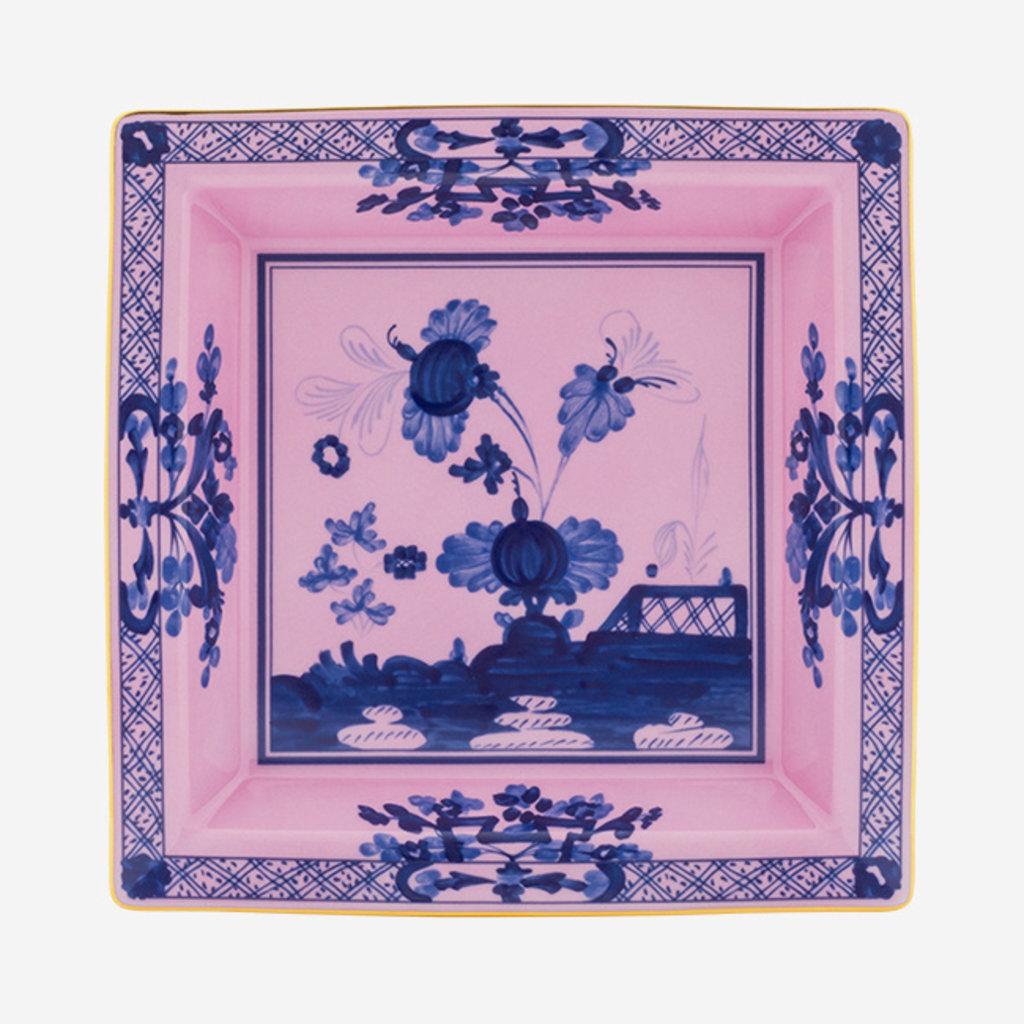 RICHARD GINORI  Oriente Italiano Azalea Grand Vide Poche Carré - Rose & Bleu
