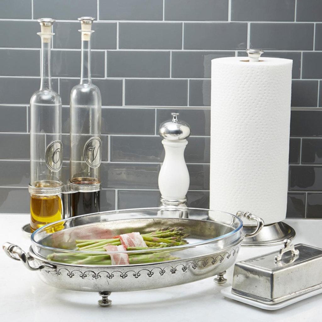 ARTE ITALICA Tavola Tall Oil & Vinegar with Caddy - Silver
