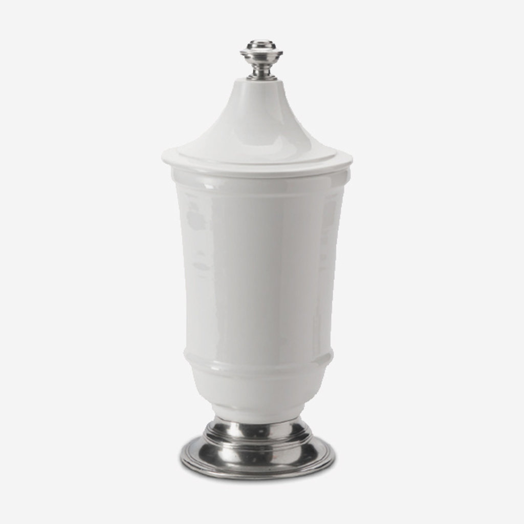 ARTE ITALICA  Tuscan Large Footed Canister - White