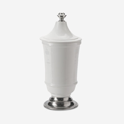 ARTE ITALICA Tuscan Medium Footed Canister - White