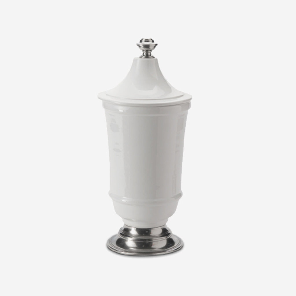 ARTE ITALICA Tuscan Small Footed Canister - White