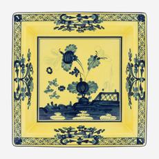 RICHARD GINORI  Oriente Italiano Citrino Large Square Vide Poche - Yellow & Blue