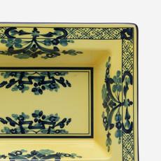 RICHARD GINORI  Oriente Italiano Citrino Rectangular Vide Poche - Yellow & Blue