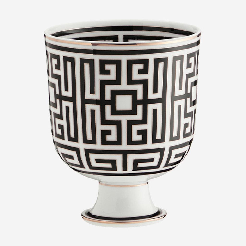 RICHARD GINORI  Labirinto Nero Cachepot Vase - Black & White