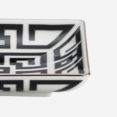 RICHARD GINORI  Labirinto Nero Square Tray - Black & White
