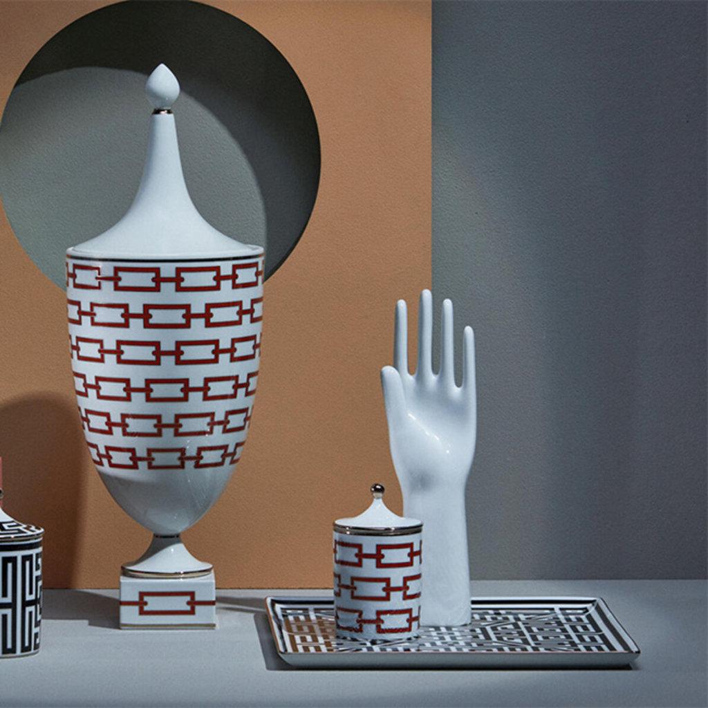 RICHARD GINORI Labirinto Nero Square Vide Poche - Black & White