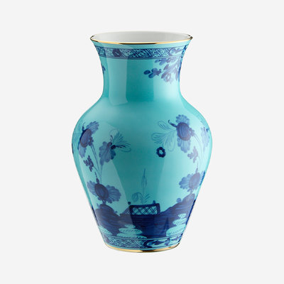 RICHARD GINORI Oriente Italiano Iris Small Ming Vase - Blue