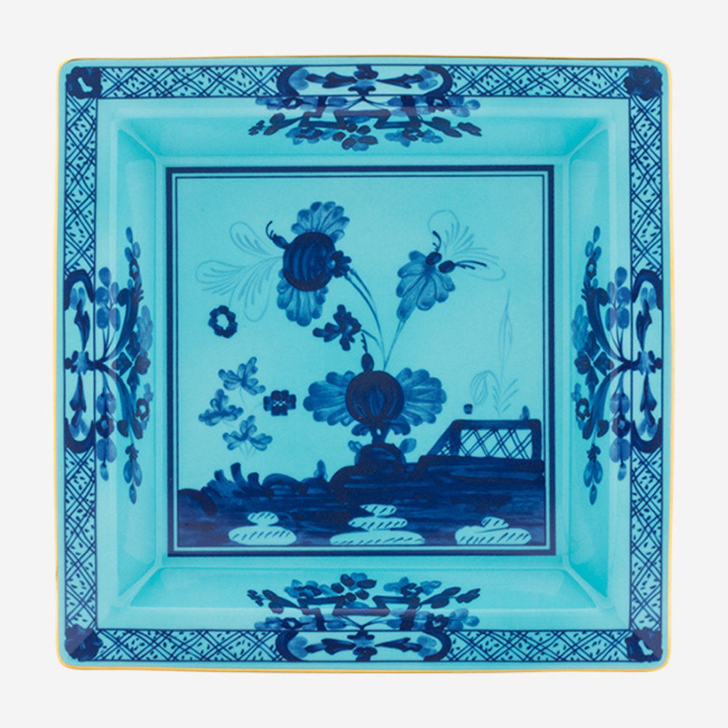 RICHARD GINORI  Oriente Italiano Iris Grand Vide Poche Carré - Bleu