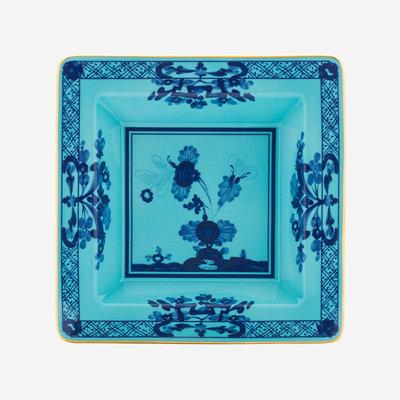RICHARD GINORI Oriente Italiano Iris Petit Vide Poche Carré - Bleu