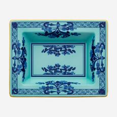RICHARD GINORI  Oriente Italiano Iris Rectangular Vide Poche - Blue