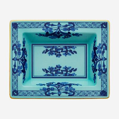RICHARD GINORI Oriente Italiano Iris Vide Poche Rectangulaire - Bleu