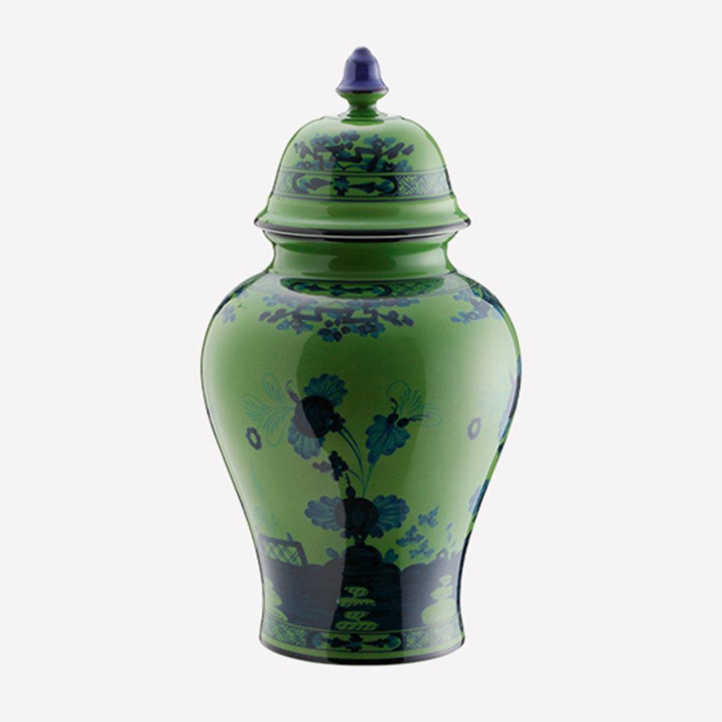 RICHARD GINORI  Oriente Italiano Malachite Large Potiche Vase with Lid - Green & Blue