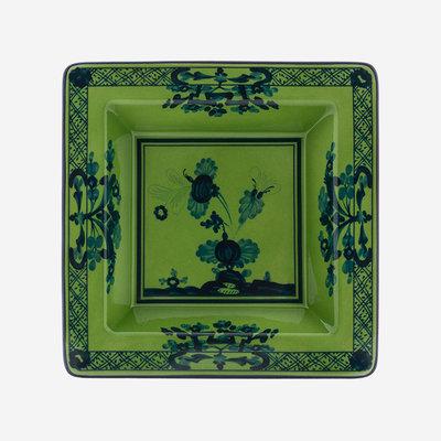 RICHARD GINORI Oriente Italiano Malachite Small Square Vide Poche - Green & Blue