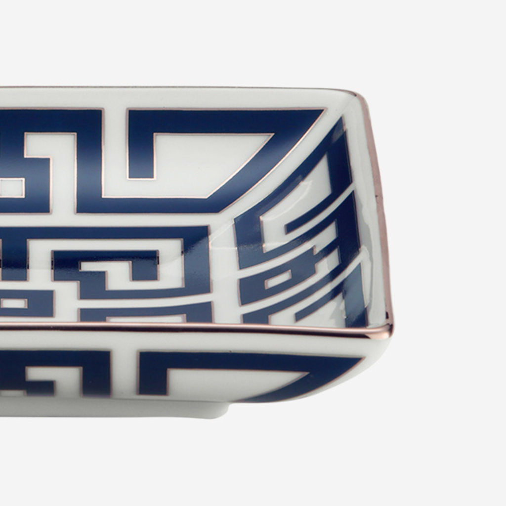 RICHARD GINORI  Labirinto Zaffiro Square Tray - White & Blue