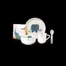 ASA GERMANY  Ensemble de vaisselle 5 pièces Emma Elephant pour enfants - Blanc