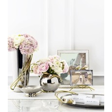 "MICHAEL ARAM Calla Lily Rose Bowl Vase H: 5"" Dia: 6"""