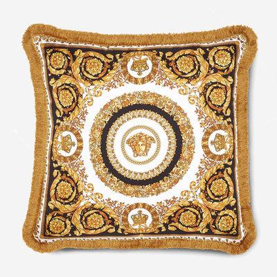 VERSACE HOME Crete De Fleur Cushion - Black, Gold & White