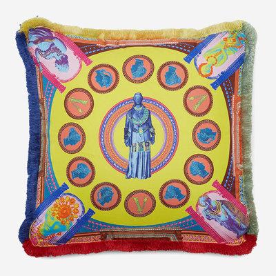 VERSACE HOME Coussin en soie Vittoria - Multicolore